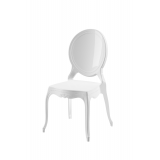 Der Stuhl für Braut und Bräutigam MEDALION weiß