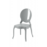 Der Stuhl für Braut und Bräutigam MEDALION Silber