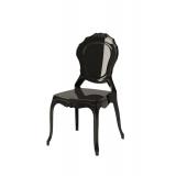 Der Stuhl für Braut und Bräutigam LUNA Schwarz