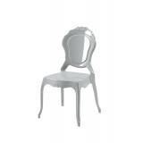 Der Stuhl für Braut und Bräutigam LUNA Silber