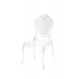 Der Stuhl für Braut und Bräutigam ZEUS Transparent